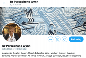 Persephone Wynn, masters rower, rowing coach, faster masters