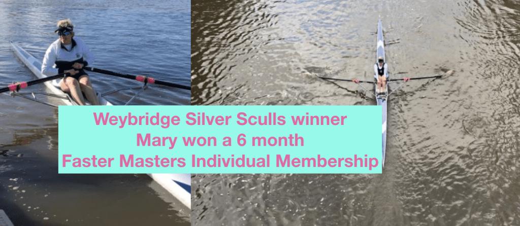 Masters rowing head race, Weybridge Silver Sculls winner