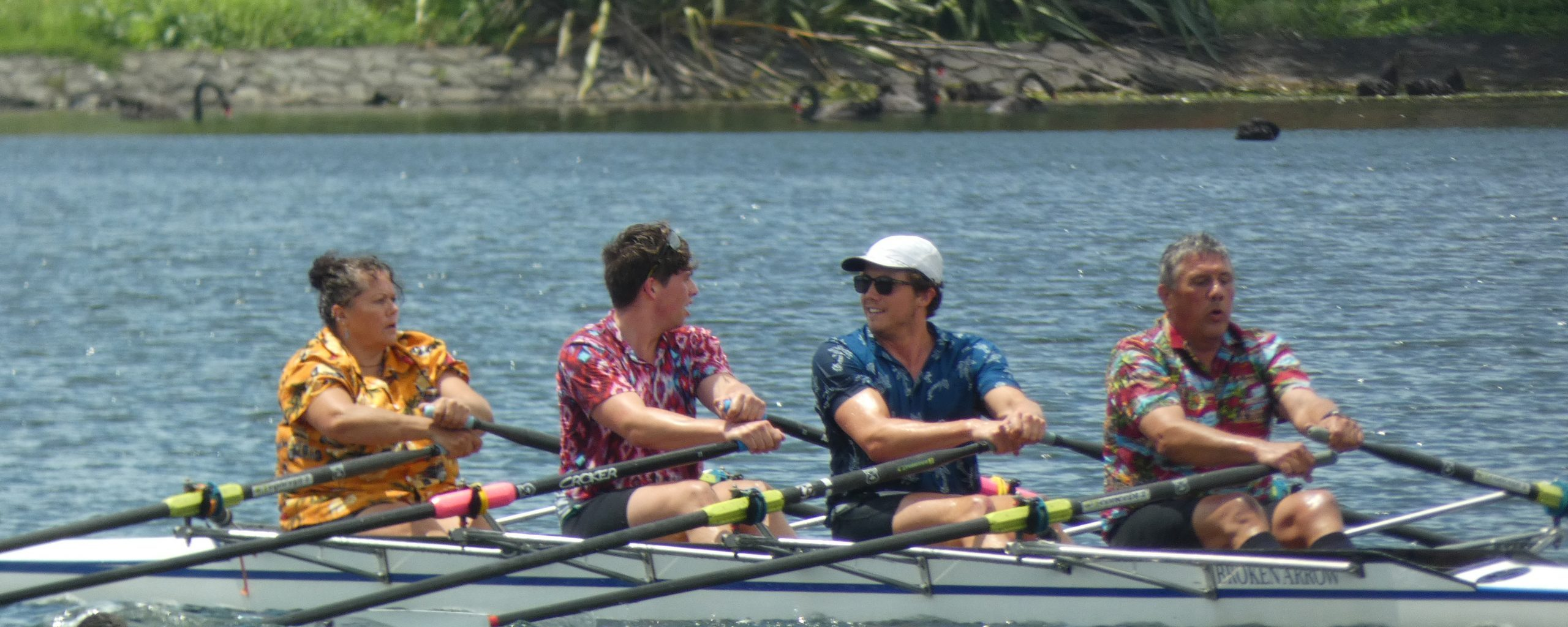 Rowing training and caring for kids & elders