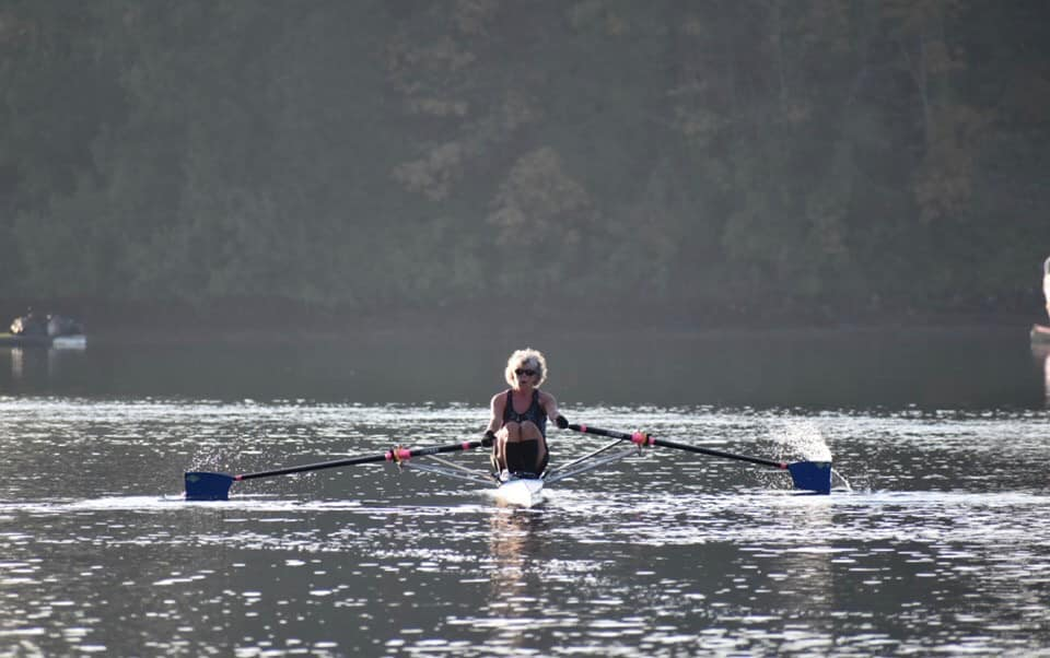 women 1x, masters rower, single scull