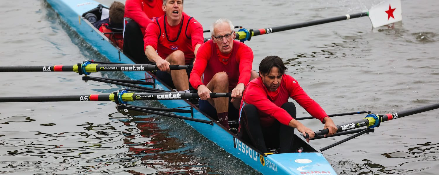 Adapting rowing rigging for masters physiology