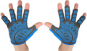 rowing gloves blue